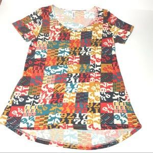 "LulaRoe Classic T Colorful ""Number Block"""